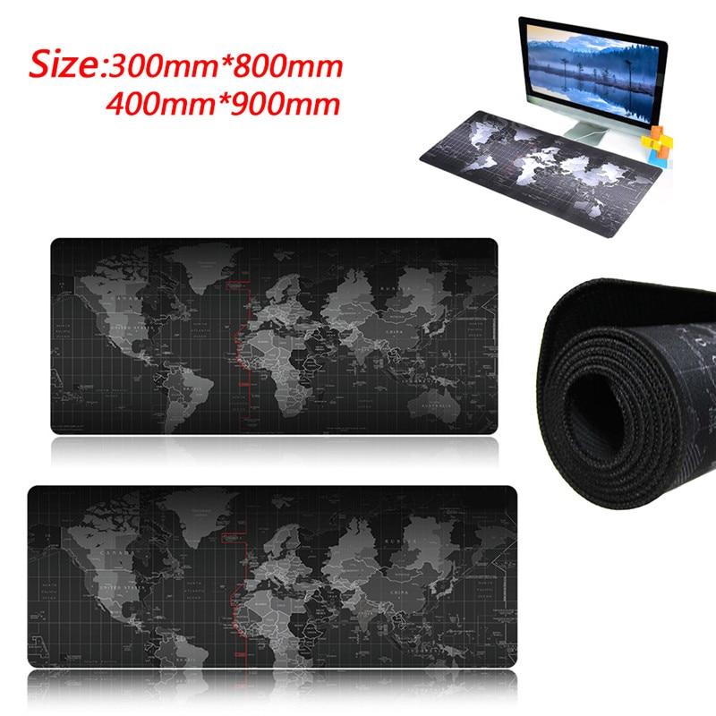 New Pro Ultra Large Rubber Keyboard World Map Mat Gaming Mouse Pad Mat Locking Edge Keyboard Table Mat For PC Laptop
