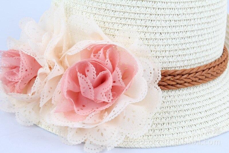 29283b56 Summer Baby Girl Sun Hat Lovely Fashion Straw Hat Beach Cap Toddlers  Infants Flower Sun Adumbral. sku: 32888299807