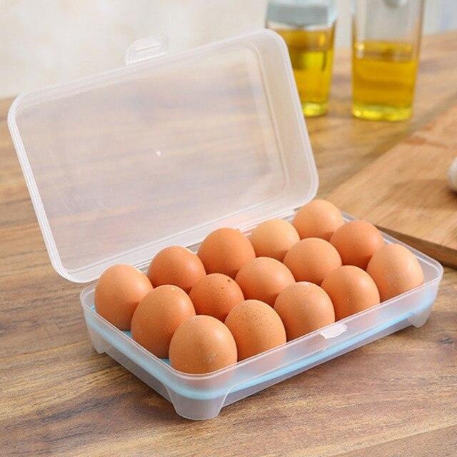 15 Grids Caja de Almacenamiento De Huevos Del Refrigerador Fresco de ...