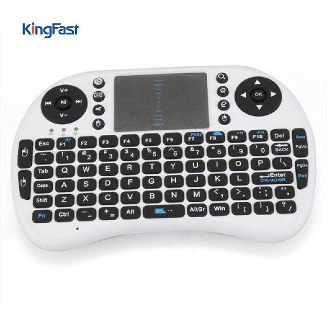 KINGFAST 2,4G Tastatur USB QWERTY Tastatur Wireless Mini Tastatur Touchpad für Android TV BOX Laptop Computer Tabletten