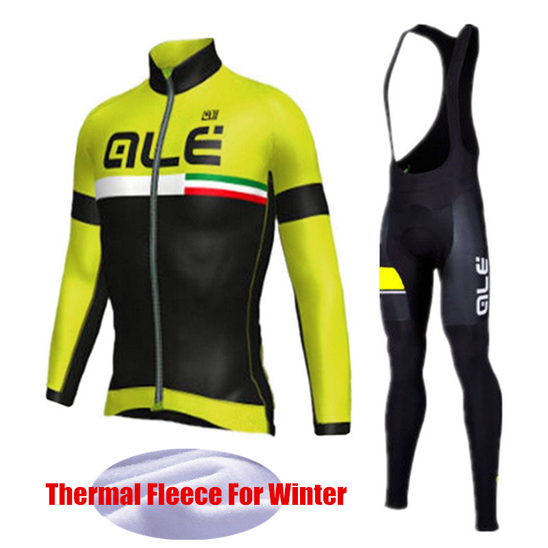 Winter font b Cycling b font font b Jersey b font Pro Team Thermal Fleece font