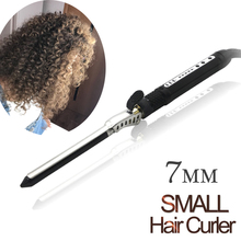 7mm Ceramic Styling Tools professional Hair Curling Iron Hair waver Men's Hair Curl Roller Curling Wand EU US Plug Hair Curler все цены
