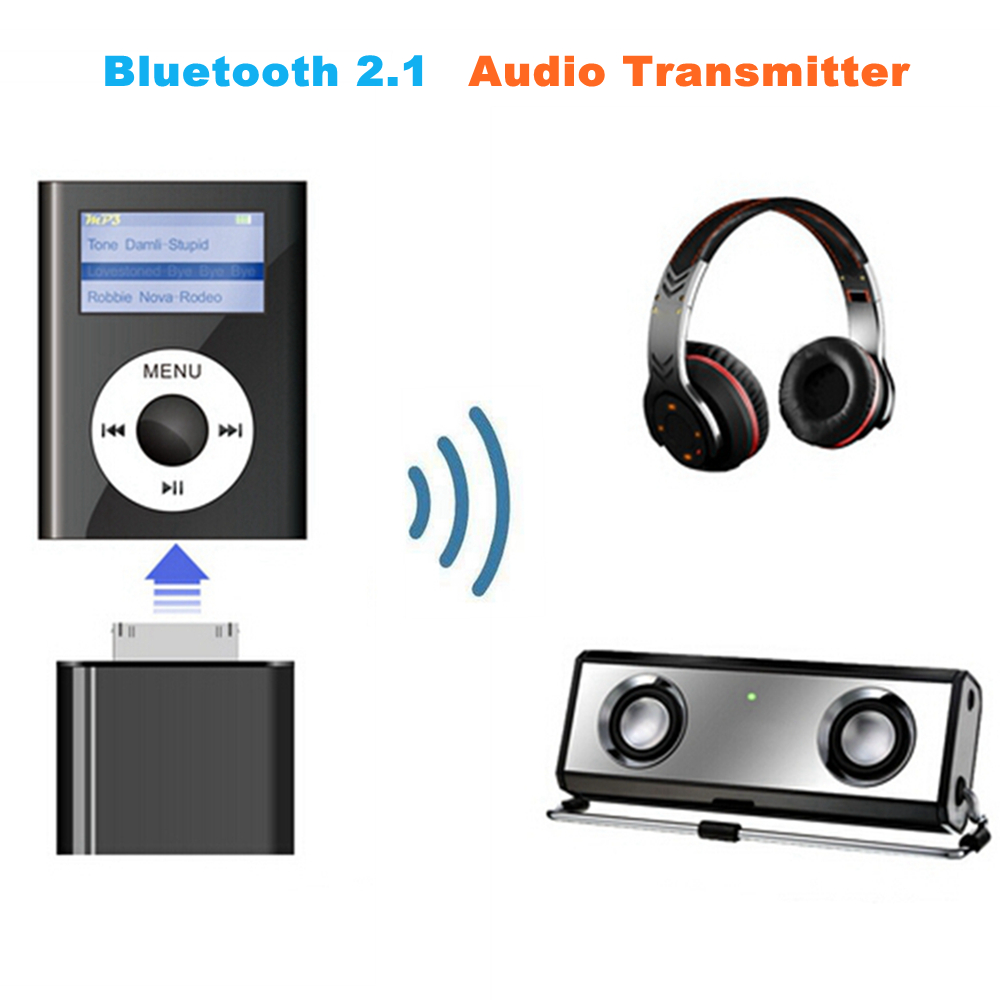 30 Pin Wireless Bluetooth 2.1 Audio Transmitter Stereo HiFi Music Adapter Transmit For IPhone 4S 3GS 4 IPod Classic Nano Touch