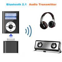 30 Pin inalámbrico Bluetooth 2,1 transmisor de Audio estéreo HiFi música adaptador transmite para iPhone 4S 3GS 4 iPod Classic Nano Touch