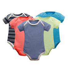4Pc/Lot Baby Boy Long Sleeve Rompers