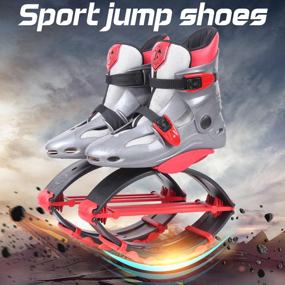 Chaussures de saut kangourou Fitness minceur musculation chaussures de saut gris-rouge taille 17/18Chaussures de saut kangourou Fitness minceur musculation chaussures de saut gris-rouge taille 17/18