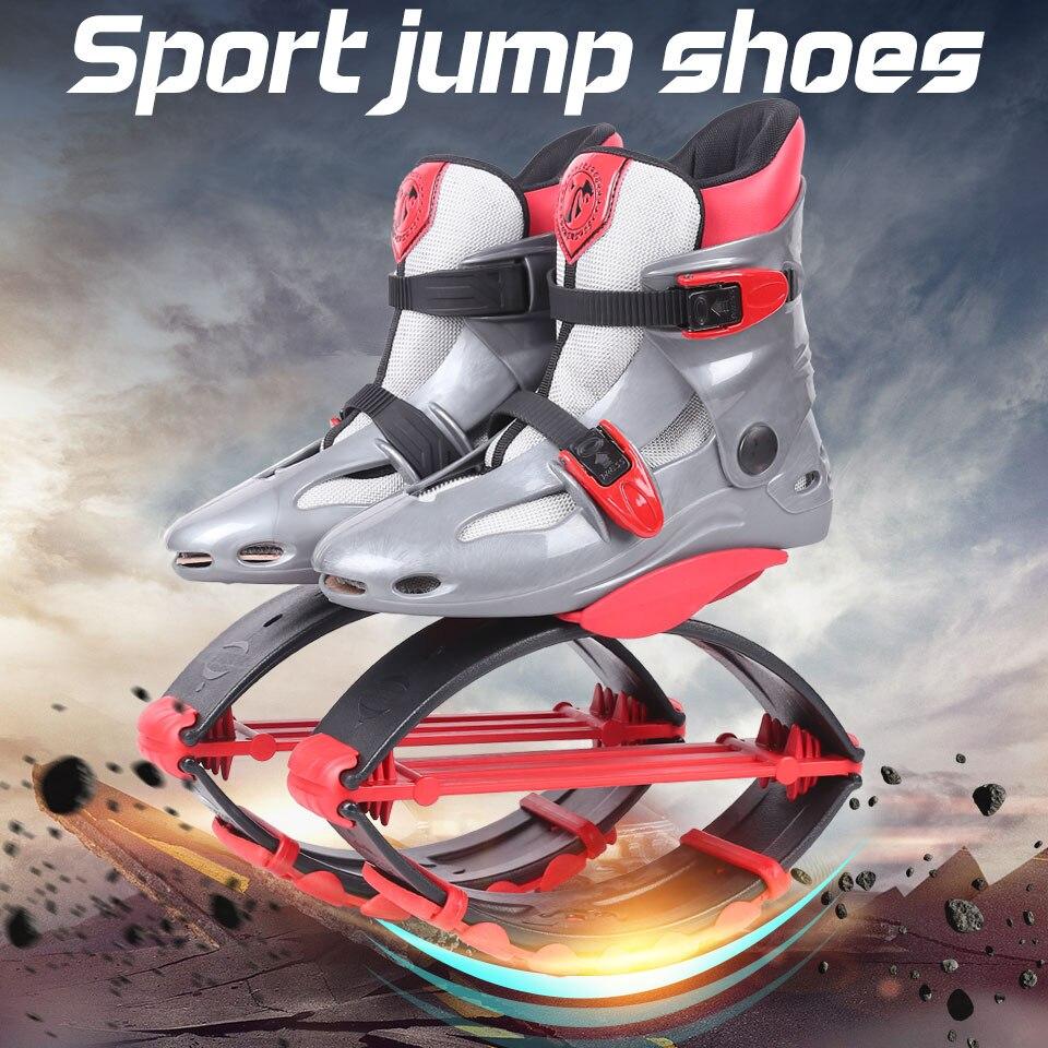 Kangourou Saut Chaussures Fitness Minceur Body Building Saut Chaussures Gris-rouge Taille 17/18