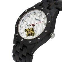 BEWELL Luxury Skeleton Automatiska Mekaniska Armbandsur För Man Lysande Moment Klocka Trä Watch Relogio Masculino 131C