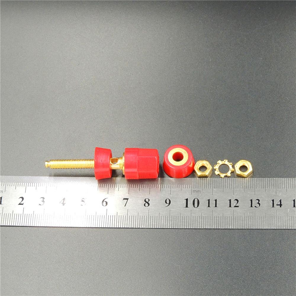 50 STÜCKE Gold vernickelt audio lautsprecherklemme für 4mm ...