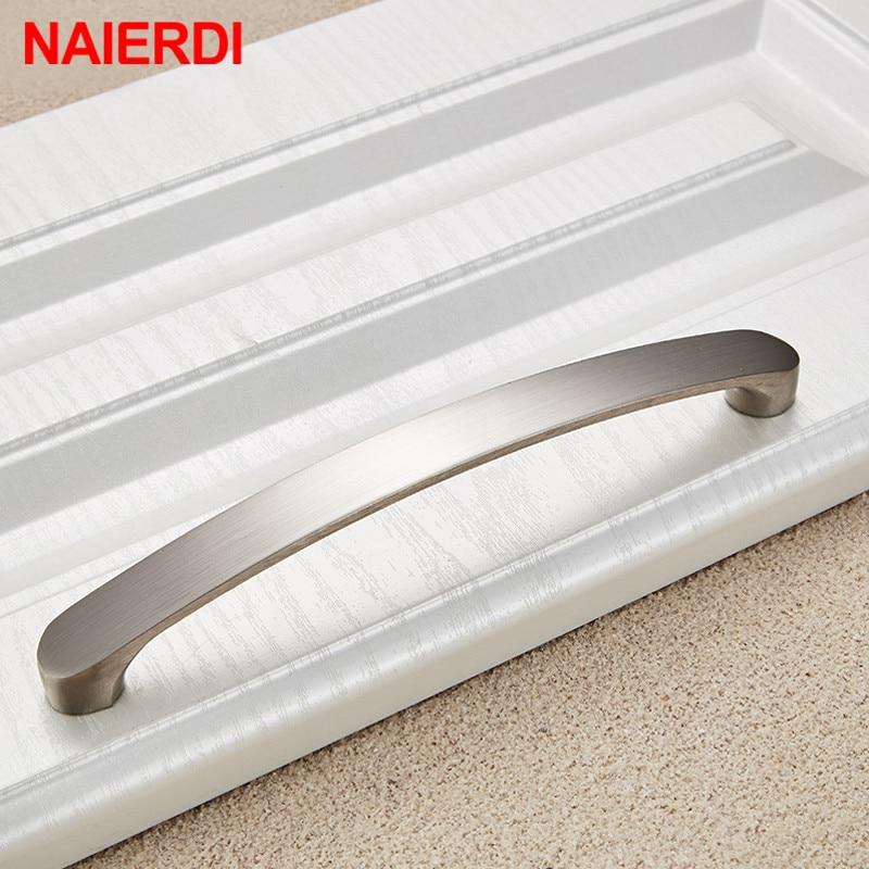 NAIERDI ручки для шкафа, круглая ручка из алюминиевого сплава, дверные кухонные ручки, матовый шкаф, тянет ящик, современное оборудование для обработки мебели