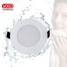 1 pièce Downlight LED étanche à intensité variable AC110V 220V 7 W/9 W/12 W/15 W/18 W/25 W/50 W ampoule LED lumière encastrée Spot LED pour salle de bain