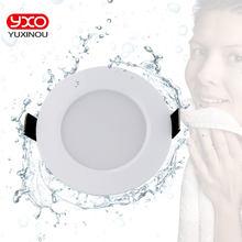 1 stücke Dimmbare Wasserdichte LED Downlight AC110V 220V 7 W/9 W/12 W/15 W /18 W/25 W/50 W Led-lampe Licht Einbau LED Spot Licht Für Badezimmer