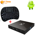 S905X X96 Android 6.0 Smart Tv Box Amlogic Quad Core 2G/16G Tv Set-top Box Añadir i8 Ratón Teclado Wifi KDOI 4 K Lleno 1080 P Tv caja