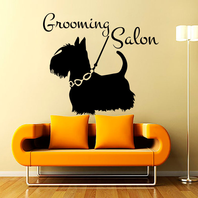 ZOOYOO Grooming Salon Wall Sticker Pet Shop Wall Decor Dog For ...
