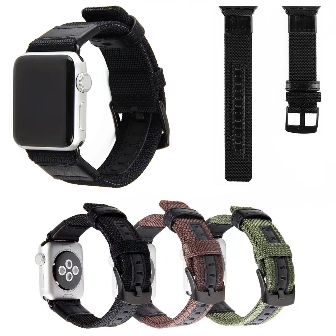 Black Brown Green Nylon Watch Band for Apple Watch Series 1/2/3 Band Sports Fabric Strap for iWatch Bracelet 42mm 38mm футболка wearcraft premium slim fit printio spider man