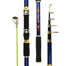 Спиннинг, морская телескопическая удочка, 2,1 4,5 м, короткая удочка, удочка для морской рыбалки, удочка для путешествий, кормушка для рыбалки