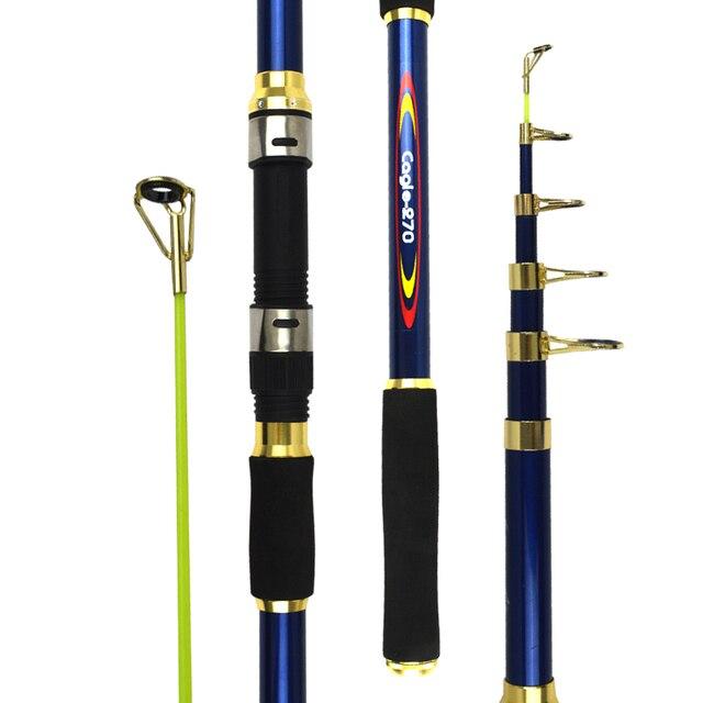 Spinning Rod Biển Kính Thiên Văn Cần Câu 2.1 4.5 m Ngắn Cần Câu Câu Cá Nước Mặn Câu Cá Rod Travel Cá trung chuyển