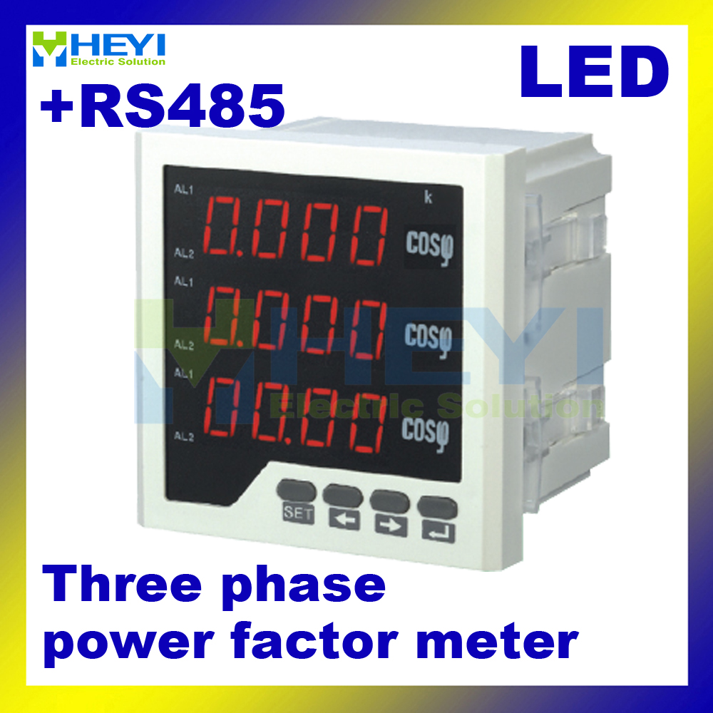 LED power factor indicator Three phase digital power factor meter with RS485 COS meter