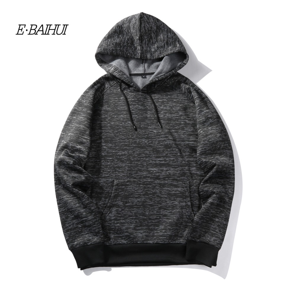 E-BAIHUI autumn men hooded sweatshirts 2018 new mens hoodies sweatshirts brand clothing casual male hoodies plus size S-XXL WY20