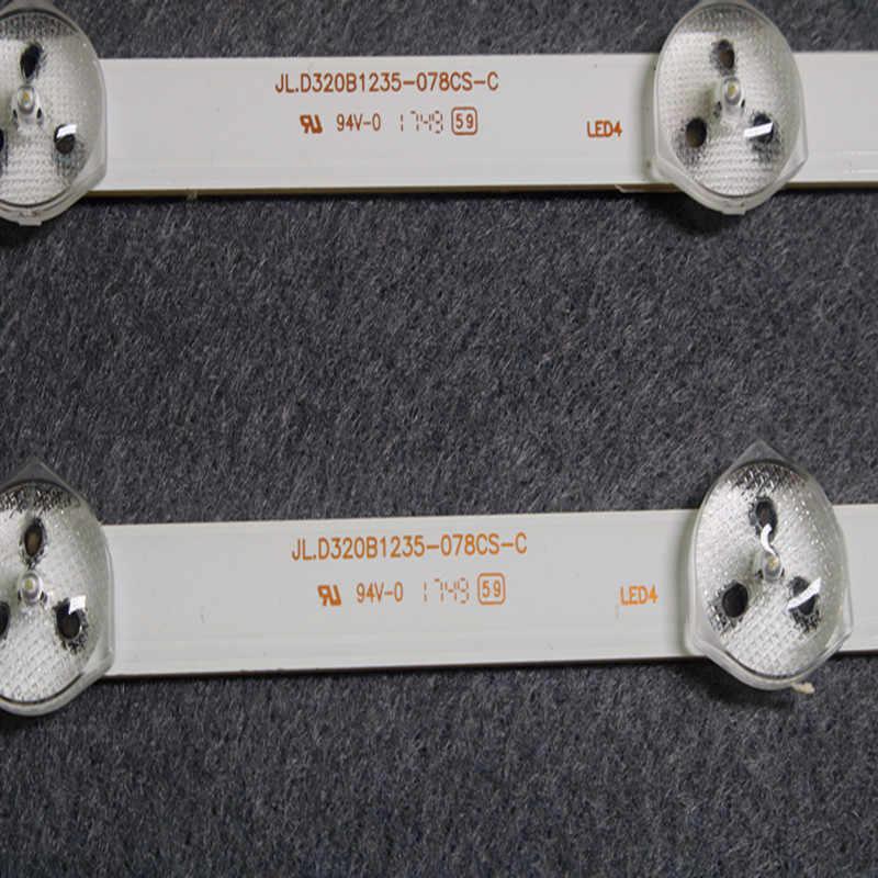 2 uds 11LED 575mm tira de LED para iluminación trasera para VESTEL 32 pulgadas REV0.2 VES315WNDS-01 32HXC01U 32D1333DB VES315WNDL-01