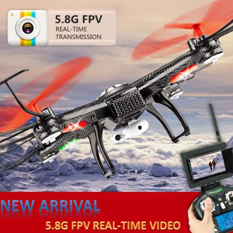V686g Fpv Rc Drone With Camera 720p Professional Drones With Monitor Quadcopters Flying Helicopter Rc Toys For Children wifi drones with camera jjrc h12w quadcopters rc dron wifi flying camera helicopter remote control hexacopter toys copters