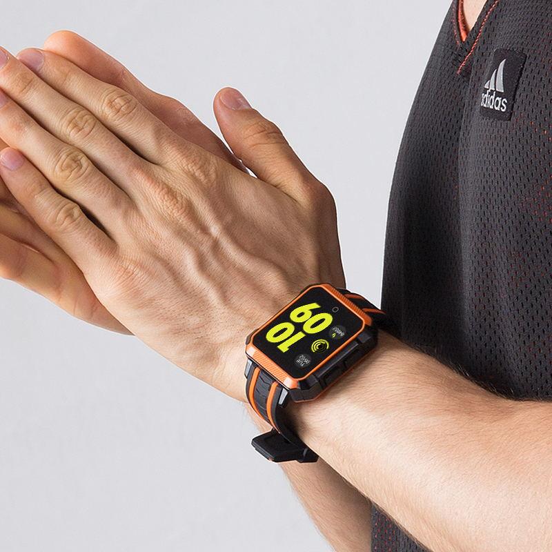 Gli Uomini Del Telefono astuto Della Vigilanza di Frequenza Cardiaca Monitor della Macchina Fotografica di GPS Bluetooth Orologi Smart Impermeabile Intelligente SIM Card Quadrante Chiamata Smartwatch