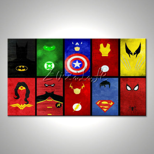 Marvel Wall Decor aliexpress : buy marvel prints comics pictures for walls