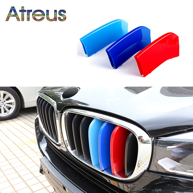где купить Atreus 3pcs For BMW X5 E70 F15 X1 E84 F48 X3 F25 X4 F26 X6 E71 F16 Motorsport Power M Performance Front Grille Trim Strips Cover дешево