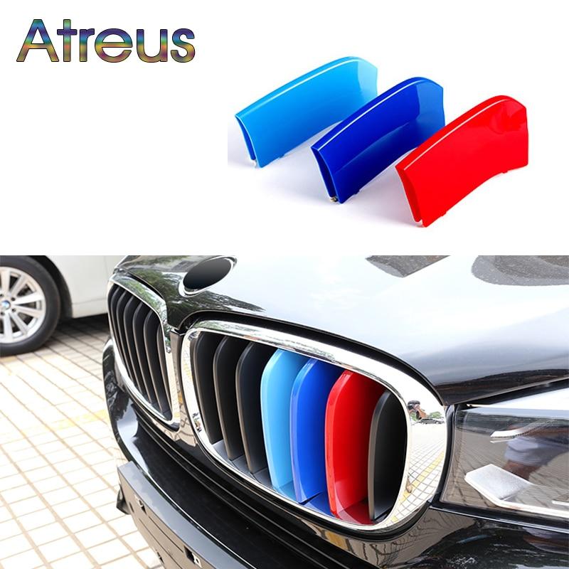 где купить Atreus 3pcs For BMW X5 E70 F15 X1 E84 F48 X3 F25 X4 F26 X6 E71 F16 Motorsport Power M Performance Front Grille Trim Strips Cover дешево