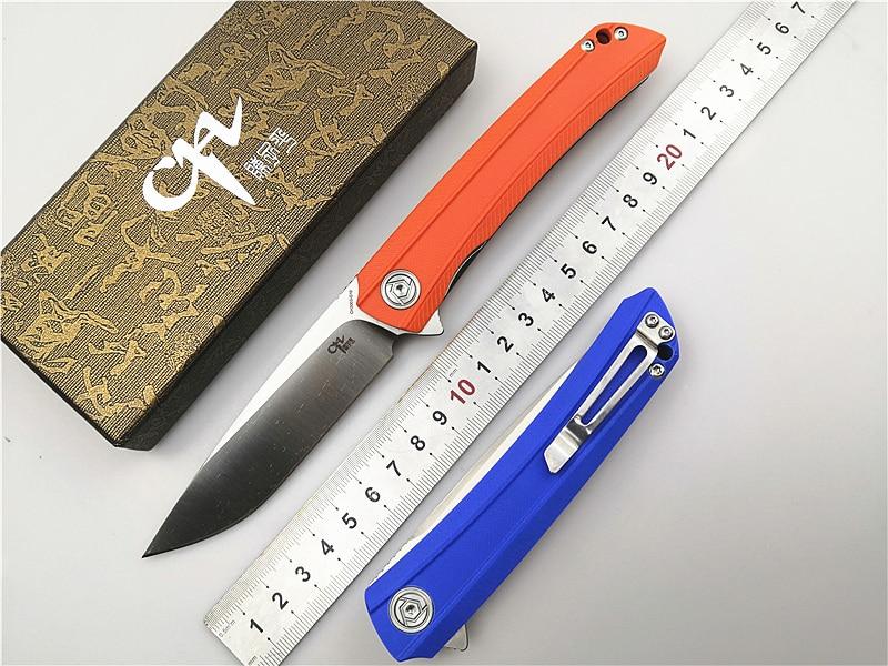 Marca ch ch3002/ch3504 faca dobrável d2 lâmina flip sistema de rolamento esferas g10 lidar com facas de bolso acampamento ferramenta edc faca ao ar livre