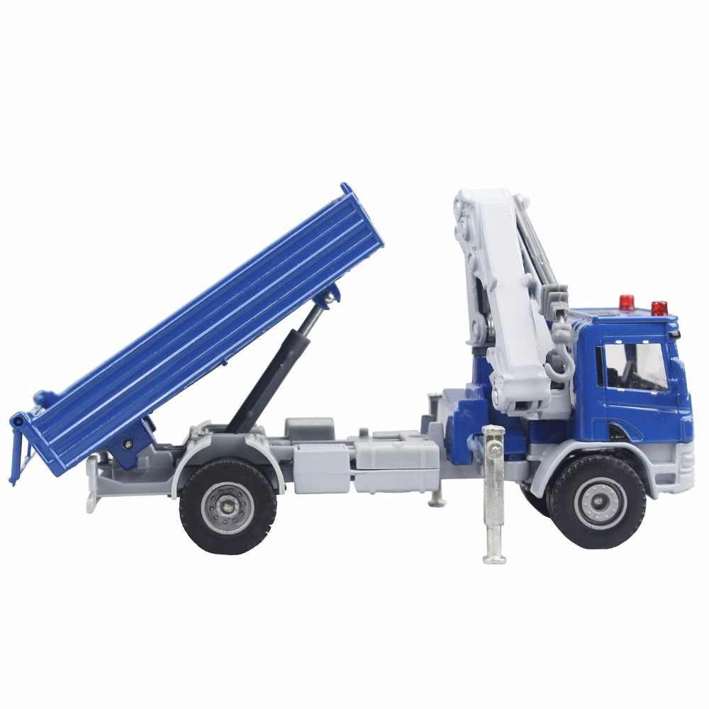 Pompa Kdw Alloy Diecast Truk Derek Model 1:50 Teleskopik Derek Dump Kaki Dukungan Crane Kendaraan Model Anak Koleksi Mainan Anak-anak