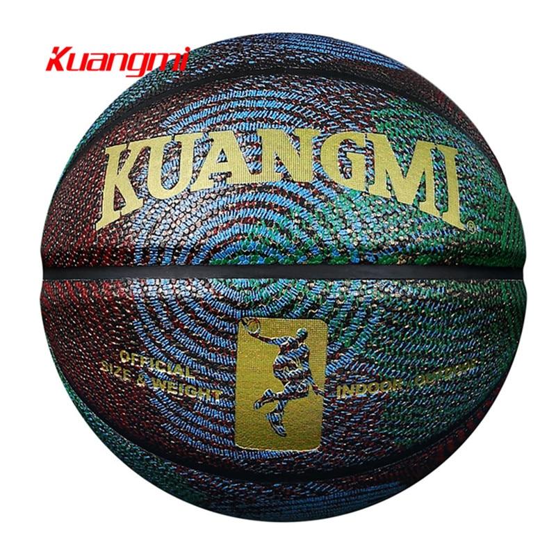 Kuangmi ბეჭდვის ნიმუში PU ტყავის კალათბურთი US Basketball Pro StreetBall Basketball Ball დახურული გარე ოფიციალური ზომა 7 საჩუქარი