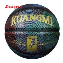 Kuangmi Personality Patterns Training Basketball High Quality PU leather US Pro Sreetball Size7 1PC
