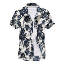 2019 New Mens Shirt Summer Beach Sea Hawaiian Short Sleeve Holiday Fashion Print Mans Tops  For D40