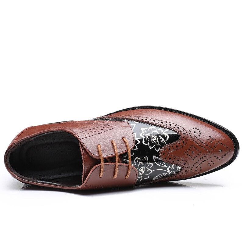 Respirável Casuais Sapatos marrom Homens Plus amarelo Couro Size De Até Baixos Para Primavera Preto Outono 48 Rendas wI5wqpdB