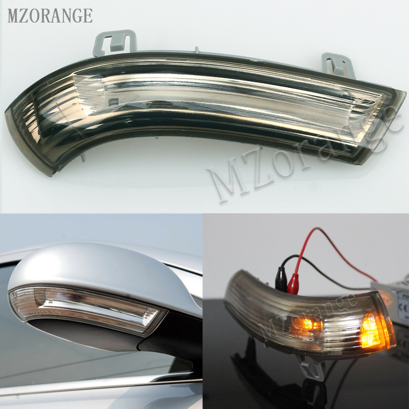 MZORANGE Left / Right Smoke Side Review Mirror Indicator Turn Signal Lamp For VW /MK5 /Golf /Passat /Jetta /Sharan what she left