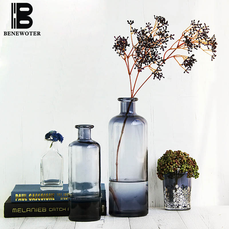 Creative Spanish Style Gradient Glass Vase Home Decor Tabletop Decoration Hydroponic Holder