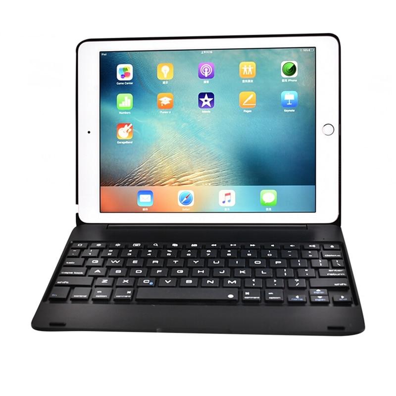 Prix pour De luxe Bluetooth Clavier Cas Pour apple iPad Air 2 ipad 6 9.7 pouces, Clavier sans fil Pour ipad 6 keybord avec ABS en plastique Corps
