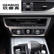 Лента из нержавеющей стали Кондиционер CD Панель декоративные крышки отделки Авто Салонные аксессуары стайлинга автомобилей Стикеры для Audi A6