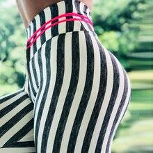 sexy Zebra striped leggings for womens fashion push up legings high waist legging Slim fit Gym motion leggins pants