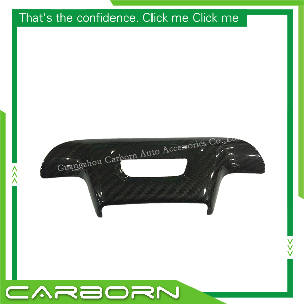 For Chevrolet Camaro 2016 2017 Stick on Style Carbon Fiber 1 Piece Steering Wheel Trim