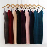 Rihschpiece Sexy Velvet Dress Tops Camisole Sleeveless Top Halter Women Tank Top Party Vest V Neck