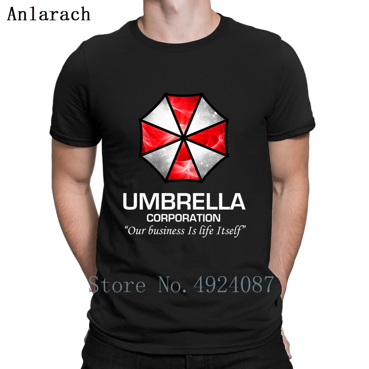Umbrella Corporation Organic T Shirt Crazy Letter Creative Mens Tee Shirts Men Fashions Summer Style Fitness Clothing