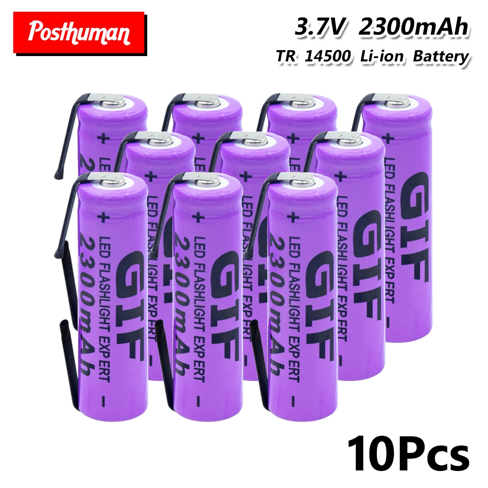14500 Lithium Battery 3.7V 2300mAh Rechargeable Batteries Welding Nickel Sheet Bateria For Torch LED Flashlight Toy