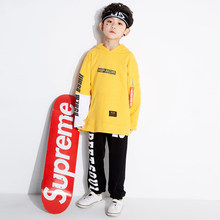 Hip Hop Dance Costumes For Kids Boys Jazz Yellow Long Sleeve Tops Children  Street Dance Clothing Stage Performance Wear DN1544 ed9d2b8377df