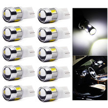 10 Pcs T10 W5W 168 194 SMD 5630 LED Wedge Light Side Bulb For Car Tail light Parking Dome Door Map