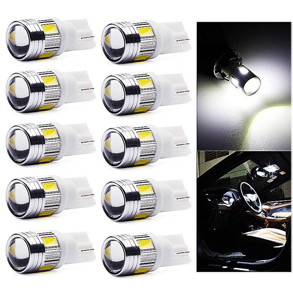 NEW 10PC Xenon White High Power 3W Samsung 5730 T10 Wedge LED Lights 192 168 194