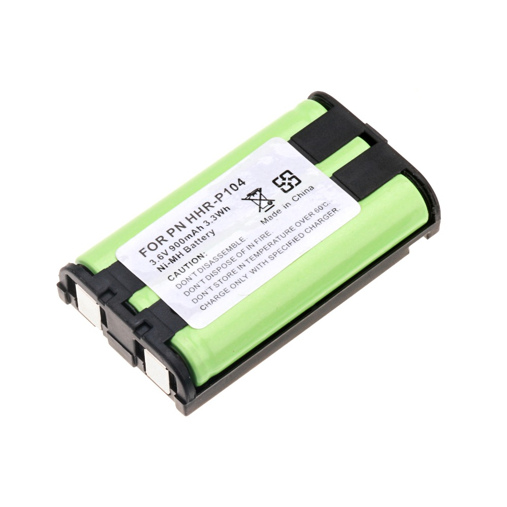 1 piezas 900 mAh 3,6 V batería recargable para teléfono Panasonic HHR-P104 3,6 V Ni-MH 3.3Wh batería 7 Uds NI-MH 14,4 V batería de alta calidad 3500mAh para panda X500 batería para Ecovacs Mirror CR120 aspiradora para dibia X500 X580