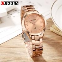 Curren Women Watches Top Brand Luxury Stainless Steel Quartz Watch Relogio Feminino Dress Fashion Elegance Watch For Women Gifts