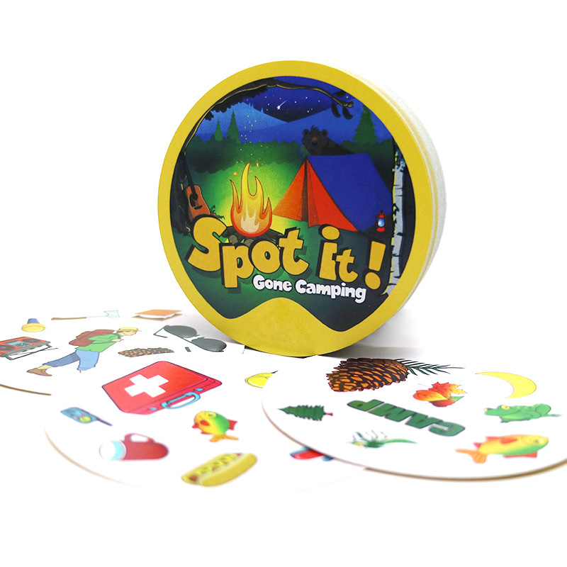2019 Board Games Spot Gone Camping For Camping Outdoor Game Home Party Dobble It Cards Game